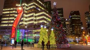 vancouver tree lighting relocates to robson square for