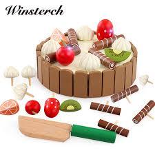jeux cuisine gateau enfants jouets gâteau d anniversaire en bois magnétique gâteau