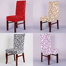Computer Chair Covers Generic Elegant Chair Cover Wedding Decor Printed Dining Spandex