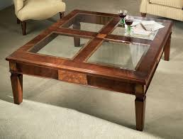 square glass top coffee table glass coffee tables and black table end with regard to square top