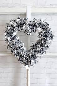 one hour scrappy fabric heart wreath hey let u0027s make stuff