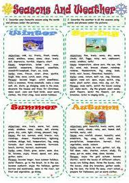 190 free esl seasons worksheets