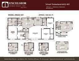 schult floor plans schult timberland 6432 401 excelsior homes west inc