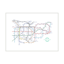 Underground Map A3 Print Unframed U2013 Kent Lines
