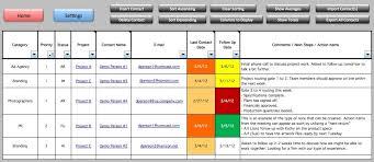 Free Excel Crm Template Free Excel Project Management Tracking Templates Business Plan