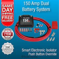 projecta dbc150k dual battery isolator kit 12 volt 4wd caravan dual
