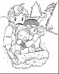 winter scene coloring page latest snow angel coloring page with