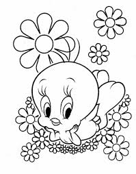 tweety coloring pages and book uniquecoloringpages coloring home