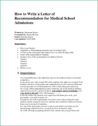 how to write letter of recommendation for medical sample