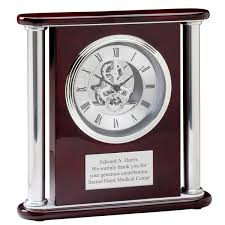 anniversary clocks engraved rosewood personalized mantle clock