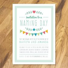 naming day invitation wording personalised joint christening naming day baptism invitations