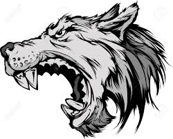 werewolf clipart wolf face pencil and in color werewolf clipart
