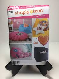 simplicity 5105 home decorating teen bedroom pillow sewing
