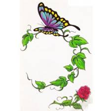 butterfly temporary design 2x3 inch temporary tattoos