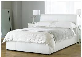 limelight pulsar white 4ft6 double faux leather bed frame intended