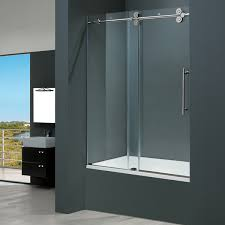 Sliding Bathtub Shower Doors Vigo 60 Inch Clear Glass Frameless Tub Sliding Door Home Decor