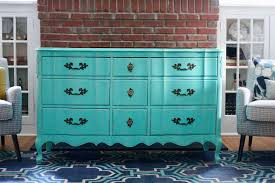 Before And Afters Clients Paint by Before And After Distressed White Dresser To A Bright Turquoise