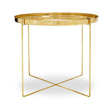 Gold Coffee Table Tray by Simple Yet Strikingly Sculptural The Ornate Side Table Is