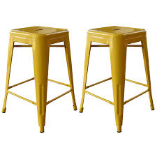 Furniture Row Bar Stools Amazon Com Amerihome 2 Piece Metal Bar Stool Orange 24 Inch