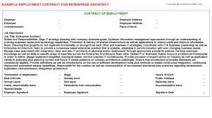 Architect Signature Enterprise Architect Employment Contract