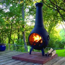 Mexican Outdoor Fireplace Chiminea Solid Cast Aluminum Construction With Stainless Steel Hardware