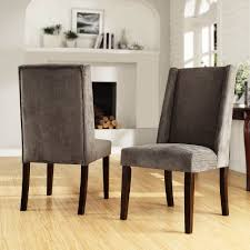 Dining Chair Deals Tribecca Home Ian Grey Chenille Wingback Dining Chair Set Of 2