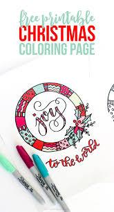 printable christmas coloring