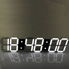aliexpress com buy super large digital led alarm clock wall