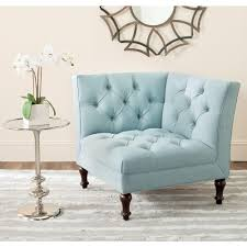 Blue Chairs For Living Room by Safavieh Jack Sky Blue Linen Polyester Side Chair Mcr4643b The