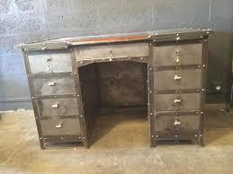 Schreibtisch Sale Industrieller Schreibtisch Aus Eisen Leder U0026 Eiche 1990er Bei