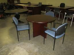 used round office table products conference room new and used office furniture atlanta