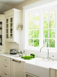 stunning kitchen inspiration with double glass window treatment