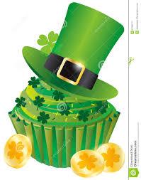 st patricks day leprechaun hat cupcake royalty free stock