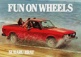 subaru bed 1978 subaru brat auto pubblicità locandine gadget ecc