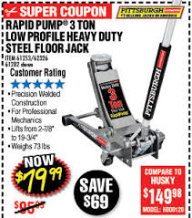 Pittsburgh Jack Savings Coupons At Harbor Freight Tools