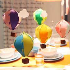 hot air balloon decorations 1pcs colorful small 3d felt hot air balloon decoration with white