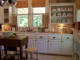 kitchen rustic design glass window wooden frame soft cream granite