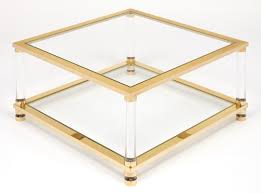 Brass Glass Coffee Table Coffee Table For Pace Collection Asymmetrical Brass And