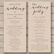 wedding ceremony program order beautiful wedding ceremony order of service wi 13374 johnprice co
