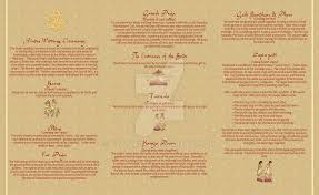 ceremony program template wedding program part 2 hindu thatladyj on deviantart hindu wedding