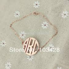 monogrammed pendant personal monogrammed pendant 3 letters gold color plated