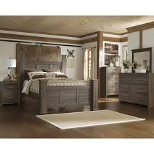 Room Place Bedroom Sets Signature Design By Ashley Juararo Dark Brown Poster Bed By