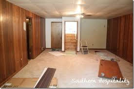 painting paneling in basement house renovation week 12 paint that paneling people southern