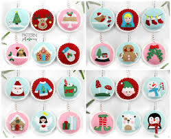 felt christmas ornament patterns 24 advent ornament pattern