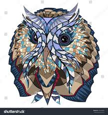 owl ethnic design illustration can be stock vector 294370898