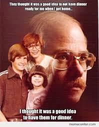 Portrait Meme - creepy dad portrait dinner by csor1120 meme center