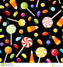 seamless background with halloween candies royalty free stock
