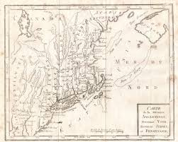 13 Colonies Map Blank by 1780 To 1784 Pennsylvania Maps