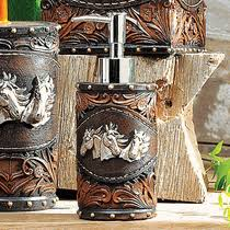 Horse Bathroom Accessories by Horse Tooled Leather Bath Accessories