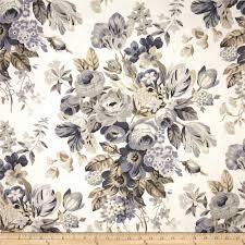 robert allen home medley blooms slub pewter discount designer